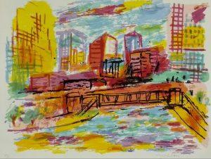 Willy Ramos Chicago Serigrafía 66 x 50 cm. Ed.75 ej.